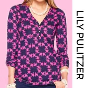 "LILY PULITZER ""Get Hoppy"" Janelle Top Small"